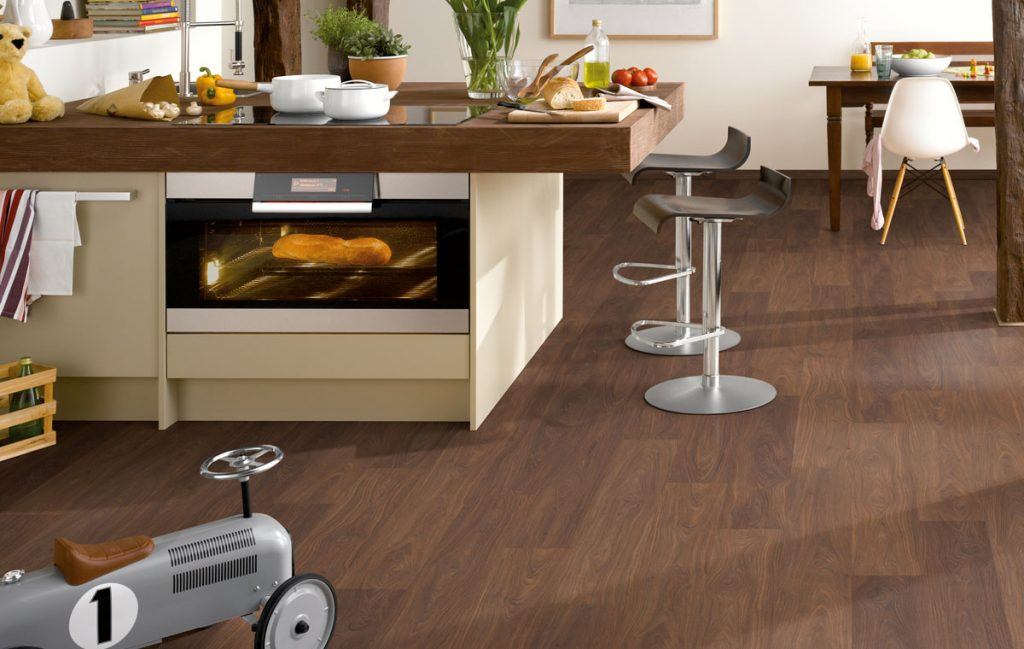 walnut cusco laminate in the kitchen