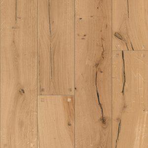 Oak parquet hardwood flooring