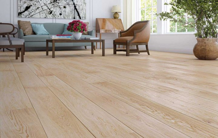Walnut, water resistant laminate flooring for kitchen
