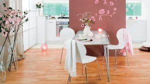 Parquet effect laminate floorings