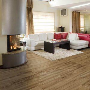Dark parquet flooring material