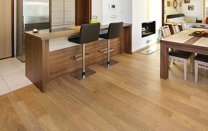 What are dark parquet floors