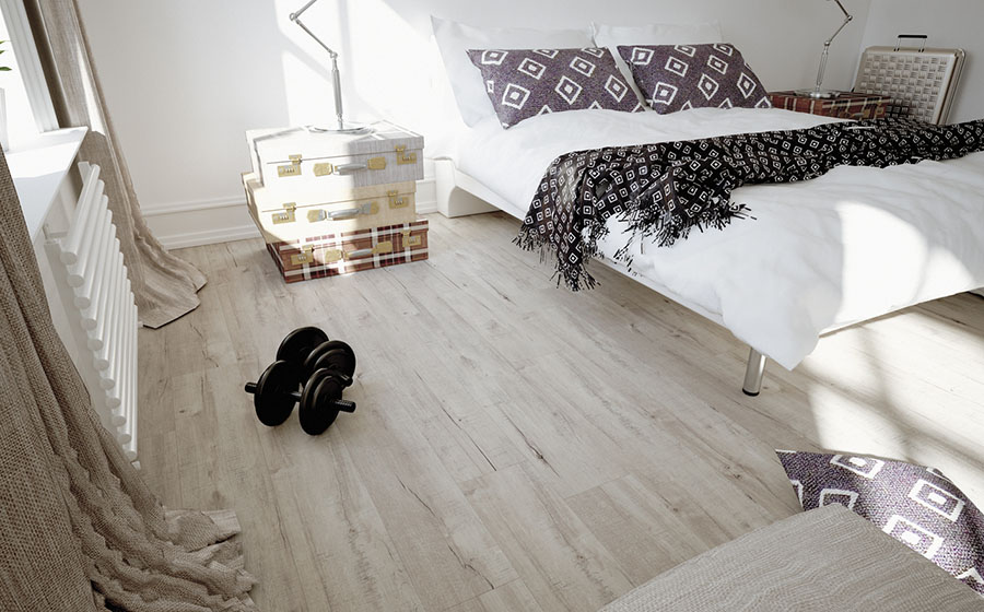 Vinyl flooring in the bedroom