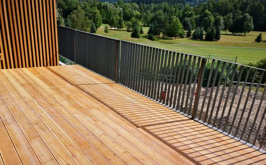 Wooden terraces offer all the necessary comfort