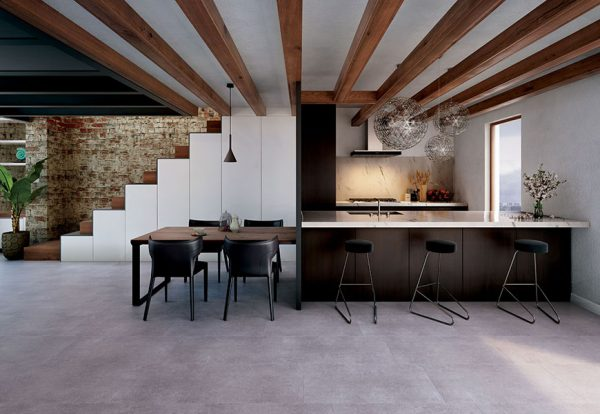 Vinyl flooring STONE GRAPHITE WINRGD-1093